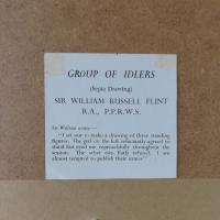 Sir William Russell Flint Signed Artists Proof - Group of Idlers 1966 (5 of 11)