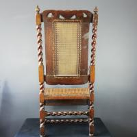 Jacobean Renaissance Revival Carved Walnut & Cane Throne Chairs c.1870 (26 of 39)