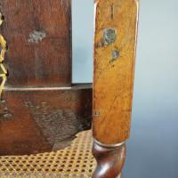 Jacobean Renaissance Revival Carved Walnut & Cane Throne Chairs c.1870 (29 of 39)
