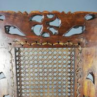 Jacobean Renaissance Revival Carved Walnut & Cane Throne Chairs c.1870 (32 of 39)