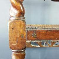 Jacobean Renaissance Revival Carved Walnut & Cane Throne Chairs c.1870 (5 of 39)