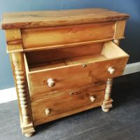 Victorian Pine Scottish Chest of Drawers (3 of 10)