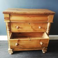 Victorian Pine Scottish Chest of Drawers (5 of 10)
