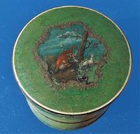 Georgian 18th Century Vernis Martin Fox & Hare Faux Tortoise Shell Snuff Box (4 of 12)
