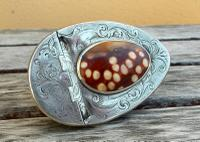Rare Georgian 18th Century Solid Silver Scottish Double Cowrie Shell Snuff Box (11 of 12)