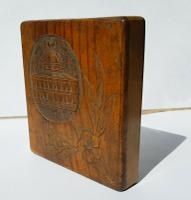 Rare Beautiful Wood Carved Jerusalem Dome Temple Card or Vesta Case c.1950 (3 of 11)