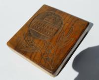 Rare Beautiful Wood Carved Jerusalem Dome Temple Card or Vesta Case c.1950 (4 of 11)
