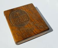 Rare Beautiful Wood Carved Jerusalem Dome Temple Card or Vesta Case c.1950 (5 of 11)