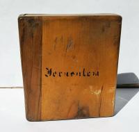 Rare Beautiful Wood Carved Jerusalem Dome Temple Card or Vesta Case c.1950 (10 of 11)