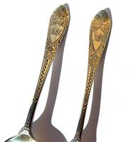 Victorian Josiah Williams & Co Solid Silver Christening Spoon & Fork Set (5 of 9)