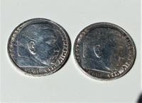 Rare Group of 4 German Reich Mark Solid Silver Coins Various Dates (4 of 7)