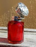 Rare Stunning Victorian Miller Bros Solid Silver Cut Glass Ruby Scent Bottle 1900 (2 of 10)