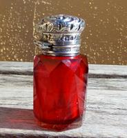 Rare Stunning Victorian Miller Bros Solid Silver Cut Glass Ruby Scent Bottle 1900 (3 of 10)