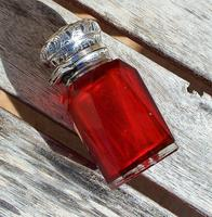 Rare Stunning Victorian Miller Bros Solid Silver Cut Glass Ruby Scent Bottle 1900 (7 of 10)