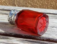 Rare Stunning Victorian Miller Bros Solid Silver Cut Glass Ruby Scent Bottle 1900 (8 of 10)