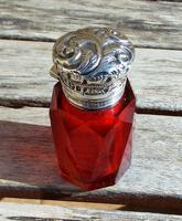 Rare Stunning Victorian Miller Bros Solid Silver Cut Glass Ruby Scent Bottle 1900 (9 of 10)