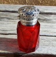 Rare Stunning Victorian Miller Bros Solid Silver Cut Glass Ruby Scent Bottle 1900 (10 of 10)