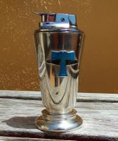 Rare Stunning Garrard & Co Solid Silver Table Lighter with Enamel Emblem (7 of 10)