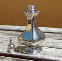 Beautiful Edwardian Samuel M Levi Solid Silver Bulbous  Design Pounce Pot     Birmingham 1905 (4 of 8)