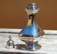 Beautiful Edwardian Samuel M Levi Solid Silver Bulbous  Design Pounce Pot     Birmingham 1905 (5 of 8)