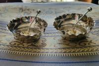 Beautiful Victorian John Millward Banks Solid Silver Salt & Spoon Cased Set Birmingham 1890 (7 of 9)