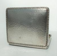 Rare Stunning Austrian  Solid Silver Planished Finish Cigarette / Card Case c.1900 (10 of 12)