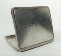 Rare Stunning Austrian  Solid Silver Planished Finish Cigarette / Card Case c.1900 (11 of 12)