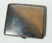 Rare Stunning Austrian  Solid Silver Planished Finish Cigarette / Card Case c.1900 (2 of 12)