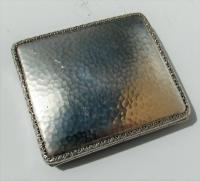 Rare Stunning Austrian  Solid Silver Planished Finish Cigarette / Card Case c.1900 (7 of 12)