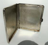 Rare Stunning Austrian  Solid Silver Planished Finish Cigarette / Card Case c.1900 (8 of 12)
