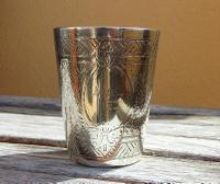 Lovely Victorian Henry Wilkinson & Co Solid Silver Decorative Beaker / Tot Cup 1876 (2 of 10)