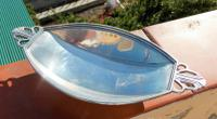 Charming Art Deco Hallmarked Solid Silver Two Handled Oval Butter Dish (4 of 8)