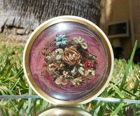 Rare Stunning Georgian Faux Tortoiseshell Beautiful Flowers Design Gilted Round Snuff Box  c.1800 (3 of 11)