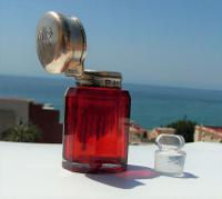 Rare Beautiful Victorian Charles May Solid Silver Cut Glass Ruby Scent Bottle    Birmingham 1893 (11 of 12)