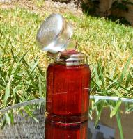 Rare Beautiful Victorian Charles May Solid Silver Cut Glass Ruby Scent Bottle    Birmingham 1893 (10 of 12)