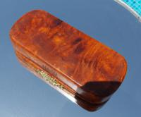 Rare French Georgian 9ct Gold Shield Crown Crest Burr Wood Rectangle Snuff Box c.1800 (5 of 10)