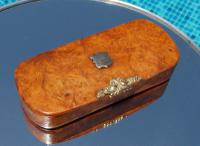 Rare French Georgian 9ct Gold Shield Crown Crest Burr Wood Rectangle Snuff Box c.1800 (7 of 10)