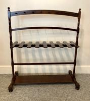Large Antique Mahogany Whip & Boot RAck Stand