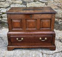 18th Century Welsh Oak Coffer Bach