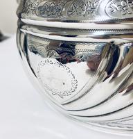 Antique Georgian Solid Silver Sugar Basin Bowl (4 of 12)