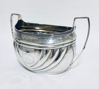 Antique Georgian Solid Silver Sugar Basin Bowl (5 of 12)