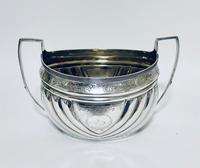 Antique Georgian Solid Silver Sugar Basin Bowl (3 of 12)