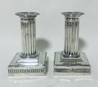 Pair of Antique Victorian Silver Candlesticks (15 of 15)