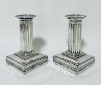 Pair of Antique Victorian Silver Candlesticks (5 of 15)