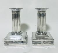Pair of Antique Victorian Silver Candlesticks (2 of 15)