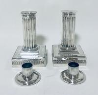 Pair of Antique Victorian Silver Candlesticks (6 of 15)