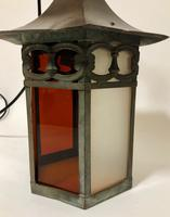 Antique Hexagonal Glass Hall Lantern (4 of 7)