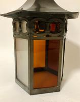 Antique Hexagonal Glass Hall Lantern (6 of 7)