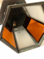 Antique Hexagonal Glass Hall Lantern (7 of 7)