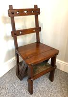 Antique Victorian Mahogany Metamorphic Library Step Chair (13 of 15)